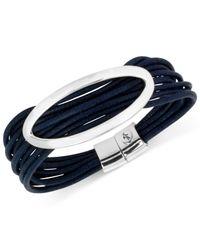 Kenneth Cole | Metallic Silver-tone Blue Multi-cord Bracelet | Lyst