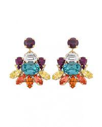 Anton Heunis | Multicolor Small Flower Crystal Earrings | Lyst