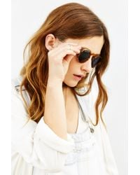 Dusen Dusen Brown Oval Frame Sunglasses