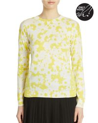 424 Fifth | Yellow Coming And Going Inverse Daisy Pullover | Lyst
