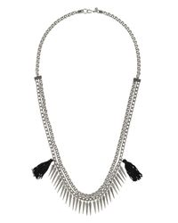 Rebecca Minkoff | Metallic Tassel Chain Spike Necklace | Lyst