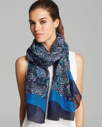 Marc By Marc Jacobs | Blue Spray Paint Snakeskin Print Scarf | Lyst