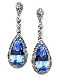 Arabella | Blue And White Swarovski Zirconia Earrings (10-7/8 Ct. T.w.) | Lyst