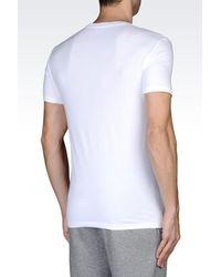 EA7 - White Cotton T-Shirt for Men - Lyst