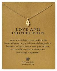 "Dogeared - Metallic Love & Protection Hamsa Necklace, 18"" - Lyst"