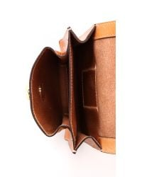 Tory Burch Brown Leather Belt Bag Camello