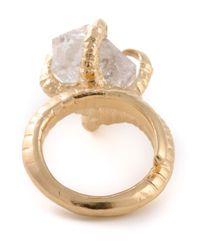 Bjorg - Metallic Herkimer Claw Ring - Lyst