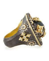 Armenta - Metallic Heraldry Decagon Labradorite & Diamond Ring - Lyst