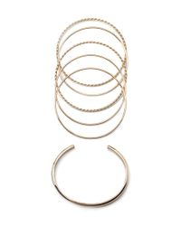 Forever 21 | Metallic Twisted Bangle Set | Lyst