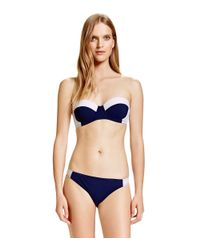 Tory Burch - Black Lipsi Colorblock Underwire Top - Lyst