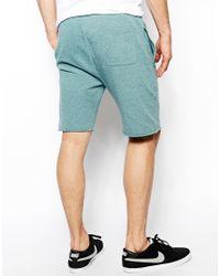 ASOS - Blue Jersey Shorts in Nepp for Men - Lyst