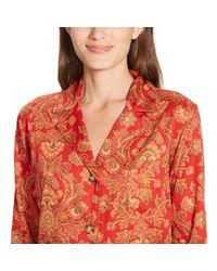 Ralph Lauren Red Cotton-blend Pajama Set