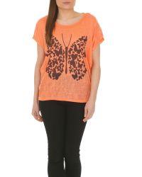 Izabel London | Orange Graphic Butterfly Print Top | Lyst