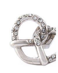 Marc By Marc Jacobs Metallic Pavé Pretzel Stud Earrings