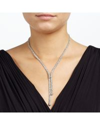 John Lewis | Metallic Fine Glass Stone Pave Y Necklace | Lyst