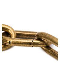 Tomas Maier | Metallic Curvy Piece Link Chain Necklace | Lyst