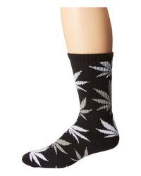 Huf   Black Plantlife Crew Sock   Lyst
