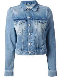 Acne Studios | Blue 'Tag' Denim Jacket | Lyst