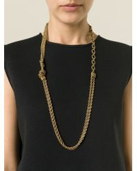 Lanvin - Metallic Toggle Fastening Necklace - Lyst
