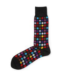 Paul Smith - Black Socks In Spot Print for Men - Lyst