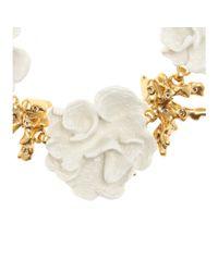 Oscar de la Renta | Metallic Coral Necklace | Lyst