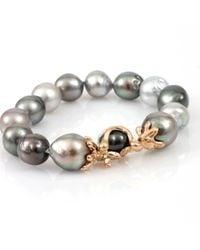Lucifer Vir Honestus | Metallic Multicolor Tahitian Pearl Bracelet | Lyst