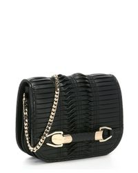 Jimmy Choo - Black Pleated Leather 'Zadie' Small Shoulder Bag - Lyst