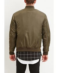 Forever 21 | Green Classic Bomber Jacket for Men | Lyst
