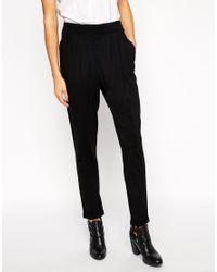 ASOS - Black Peg Trousers In Jersey - Lyst