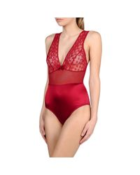 Stella McCartney Red Mathilda Giggling Bodysuit