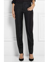 JOSEPH Black Kong Super 100 Wool-Twill Slim-Leg Pants