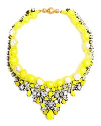 Shourouk | Yellow 'Theresa' Necklace | Lyst