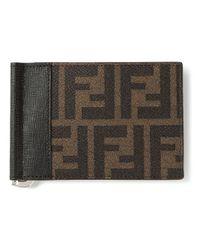 Fendi - Brown Zucca Money Clip Wallet for Men - Lyst