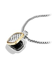 David Yurman - Metallic Sculpted Cable Locket With Gold - Lyst