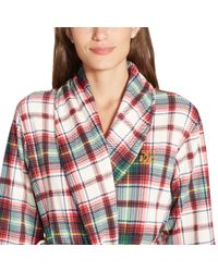 Ralph Lauren Pink Plaid Shawl-collar Robe