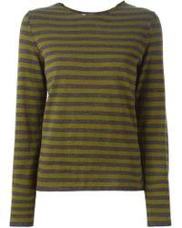 Comme des Garçons - Blue Striped Sweater - Lyst