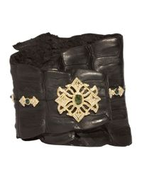 Armenta - Black Tourmaline Diamond Cross Wrap Cuff Bracelet - Lyst