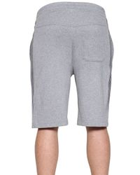 Emporio Armani - Gray Light Cotton Fleece Shorts for Men - Lyst