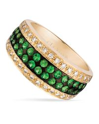 Le Vian - Green Tsavorite (3/4 Ct. T.w.) And Diamond (1/4 Ct. T.w.) Pave Ring In 14k Gold - Lyst