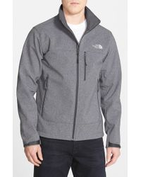 The North Face | Gray 'Apex Bionic' Climateblock Windproof & Water Resistant Softshell Jacket for Men | Lyst