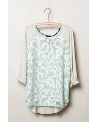 Dolan | Gray Filigree Lace Top | Lyst