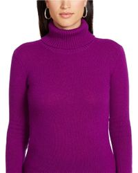 Lauren by Ralph Lauren Purple Wool And Cashmere Turtleneck