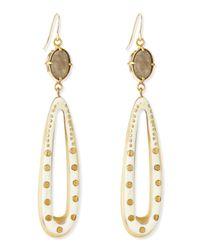 Ashley Pittman | Metallic Shimo Earrings With Labradorite | Lyst