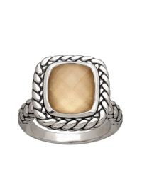 Lord & Taylor | Brown Sterling Silver And Quartz Doublet Ring | Lyst