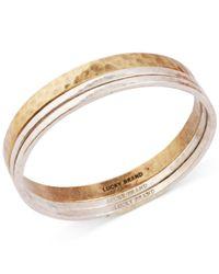 Lucky Brand - Metallic Two-Tone Modern Metals Bangle Bracelet - Lyst