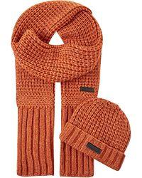 Belstaff | Orange Ardleigh & Heathle Hat And Scarf Gift Set for Men | Lyst