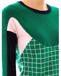 Erdem - Green Tracy Ski Tuileries Multipanel Sweater - Lyst
