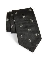Ike Behar | Black Paisley Woven Silk Tie for Men | Lyst