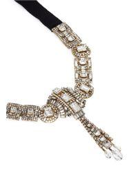 Erickson Beamon Metallic 'temptress' Crystal Fringe Ribbon Necklace