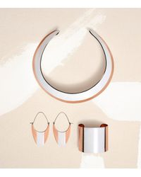 Tory Burch Pink Wide Dipped Collar Necklace